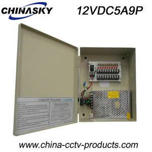 Wholesale box cameras: 12VDC 5A 9 Ch CCTV Camera Power Supply Box