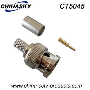 Wholesale cctv accessories: RG58/59/6 Coaxial Cable CCTV Male BNC Crimp Connector