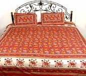 Wholesale Sheet: Sanganeri Print Bed Sheets
