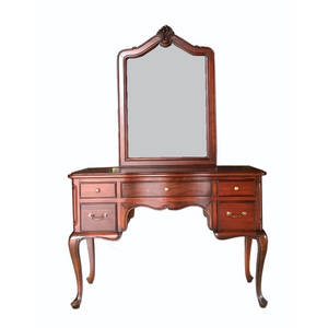 Wholesale makeup mirror: Antique Wooden Makeup Table with Mirror for Bedroom