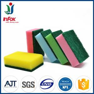 Wholesale sponge: Colorful Kitchen Cleaning Heavy-Duty Sponge Scrubber