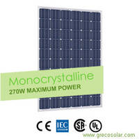Sell Solar Panels 270 Watt Monocrystalline