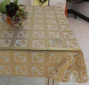 Wholesale dining room table cloth: Embroidery Designs PVC Lace Table Cloth