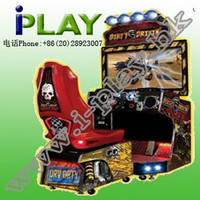 Dirty Drivin Video Arcade Racer Game with 42