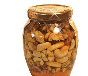 Wholesale canned food: Natural Honey Mixed with Nuts (Walnut, Pistachios, Peanut /Fig)