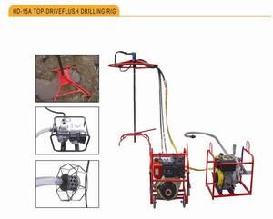Wholesale gasoline engine hydraulic pump: HD-15A Flush Drilling Rig