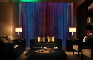 Wholesale motorized decortaive curtains: Motorized String Curtains with LED | Bintronic (BT-MSC)