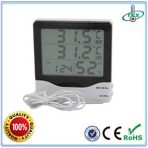 Wholesale household thermometer: Digital Temperature and Humidity with Clock Thermometer