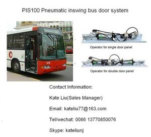 Wholesale bus door system: Pneumatic Inswing Bus Door System/Bus Door Mechanism for City Bus(PIS100)