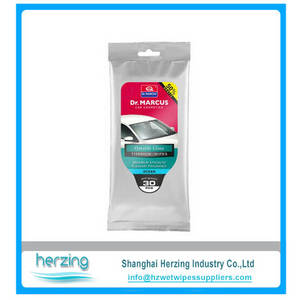 Wholesale Car Care Products: Disposable Auto Car Glass Cleaning Wipes