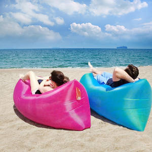 Wholesale lounge: Out Sleeping Bag 260*70 Cm Airbags Lazy Sofa Inflatable Air Sofa Bed Beach Lounge Foldable Camp Bed