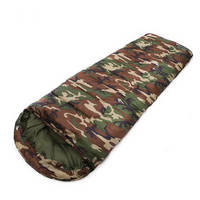 Camouflage Camping 3 Season Cotton Filling Envelope Style Army Hooded Military Sleeping Bags