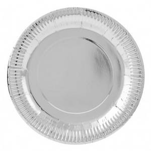 Wholesale paper plate: Paper Plate Silver
