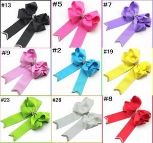 Wholesale Other Hair Accessories: 5''-6'' Rhinestone Cheerleading Hair Bows Sparkles Cute Cheer Bows
