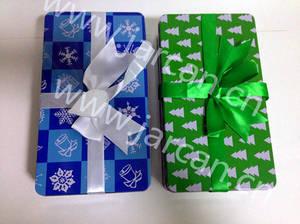 Wholesale candy tin: Christmas Gift Tin Box, Candy Storage Tin Can, Xmas Gift Storage Metal Box