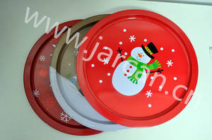 Wholesale food tin: Xmas Candy Tin Tray, Food Fruit Metal Tray, Dessert Tin Tray