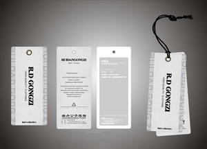 Wholesale garment label: Custom Fashion Paper Hang Tag Logo Labels for Garment