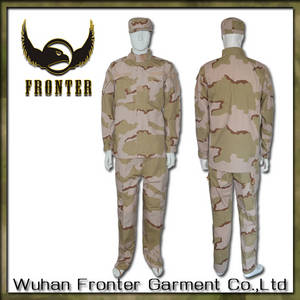 Wholesale cotton army cap: Whfronter Rip Stop Hunting Battle Tri-Color Desert Camouflage Us Military Uniforms