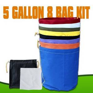 Wholesale Filter Supplies: EXTRACTOR Herbal 5 GALLON 8 BAG KIT Bubble Hash Bags