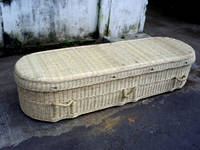 Sell rattan natural wicker coffins