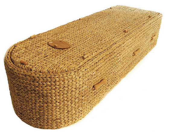 Sell natural wicker coffins