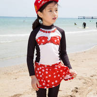 Girl Kids Princess Minnie Mouse Red Disney Birthdays Rashguard Bikini Swim Beach Wear Suit