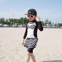 Girl Kids Princess Oddette Black Disney Birthdays Rashguard Bikini Swim Beach Wear Suit