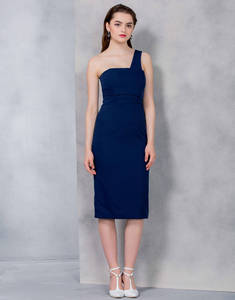 Wholesale Dresses: Navy Bounce Dress with Bones