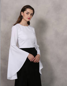Wholesale Ladies' Blouses: Womenswear Backless White Top