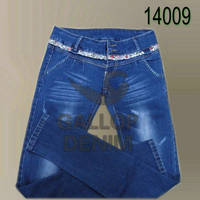 Sell classic style  jeans women mid waist  jeans female high denim pants of good