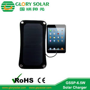 Wholesale mobile solar charger: Promotion Mobile Ipad 6.5V Device Portable Solar Charger