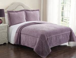 Wholesale velvet: Velvet Quilt Set From H&J Industrial