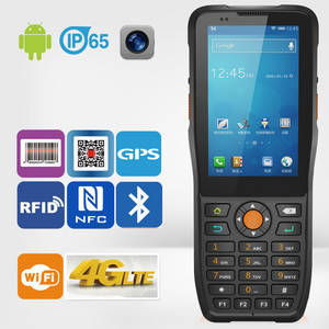 Wholesale dual sim mobile phone: Quad-Core LTE 4G Android PDA with Barcode Reading NFC RFID Camera