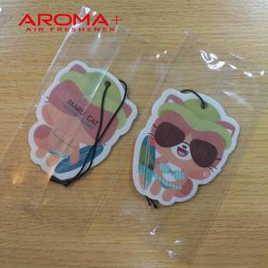 Wholesale car air freshener: New Products Sexy Cat Hanging Paper Car Air Freshener