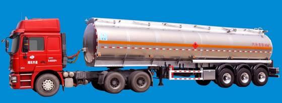 fuel tank: Sell  Aluminum Fuel Tank Trailer 2 Axle 37CBM