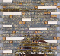 Metallic Cube Glass Mosaic for Home Wall and Floor Tile