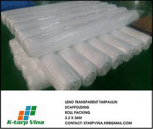 Wholesale packing box: Leno Transparent Scaffolding PE Tarpaulin Sheet 3.3 X 36m, 2.7 X 50m