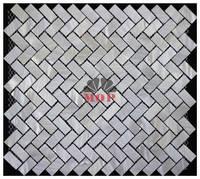 White Brick Wall Mosaic Shell Board