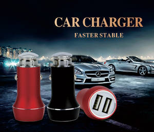 Wholesale usb car charger: 2016 Hot Selling Metal Smart IC Car Charger Dual Port Phone USB Car Charger Adapter