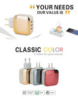 Fast Charging USB Travel Charger 2A 3 USB Multi Charger for Smartphone