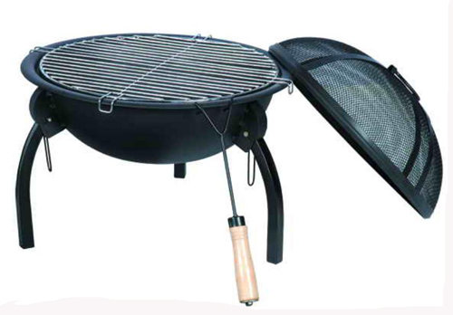 Foldable BBQ Fire Pit With Cooking Grill For Camping From