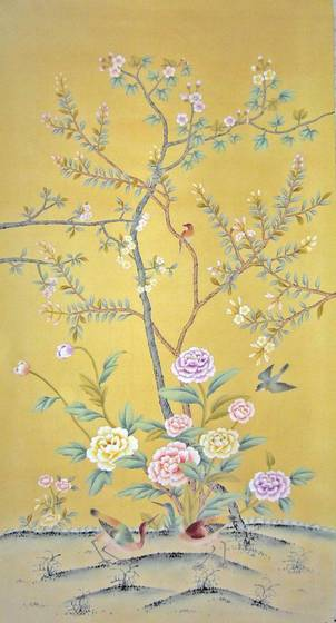 Chinese Hand Painted Wallpaper Chinoiserie 36 4839197