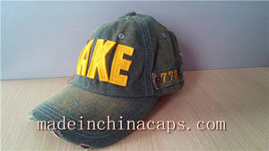 Wholesale embroidery patch: Denim Cowboy Patch Embroidery Cap