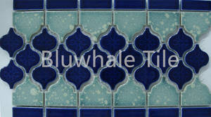 Wholesale border mosaic: Pocelain Border Mini Lantern Ceramic Mosaic Border