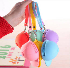Wholesale purses: Promotion Silicone Purse Hat Cap Shaped Key Coin Bag Moneybag