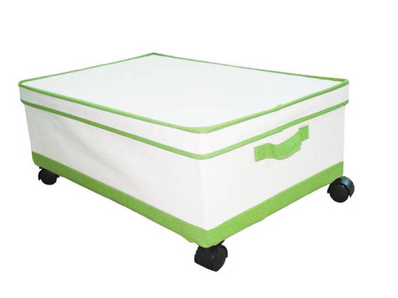 Underbed Collapsible Canvas Storage Box With Wheels Id