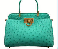 Sell genuine real ostrich leather handbag
