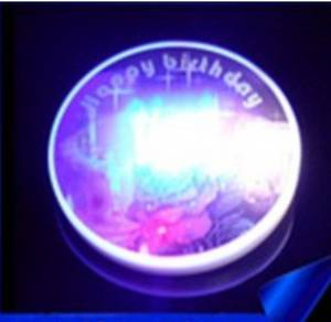 Wholesale advertising led: Flash Badges LED Luminous Badge Advertising Gifts