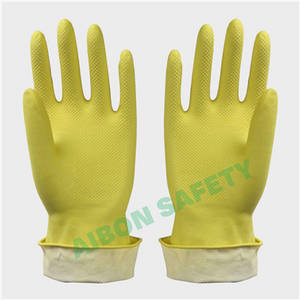 Wholesale Household Gloves: Dip Flocklined Household Latex Glove