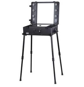 Wholesale makeup mirror: Makeup Artist Station Cosmetic Case Beauty Case Light Mirror Legs Wheeled